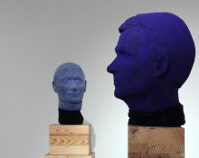 Kontra Ágnes: Kék fejek (installáció részlet)